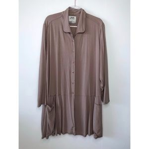 FLAX Button Front Tunic Lagenlook Top